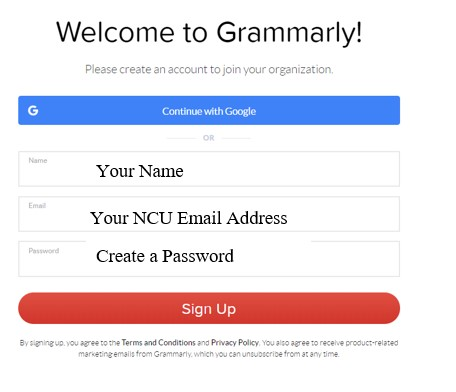 Grammarly Sign Up