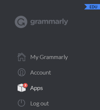 Grammarly Account Screen