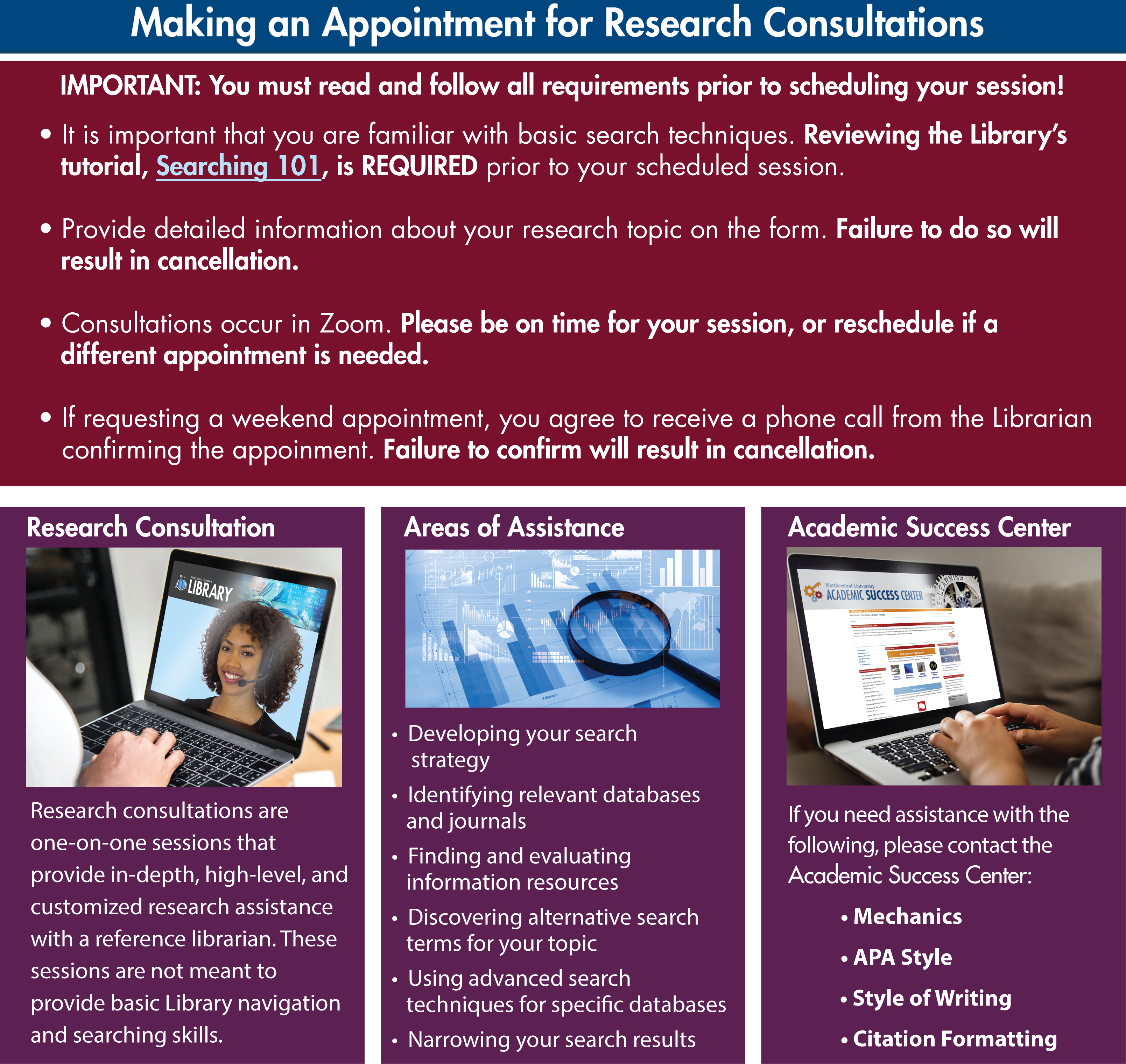 Making an Appointment for Research Consultations