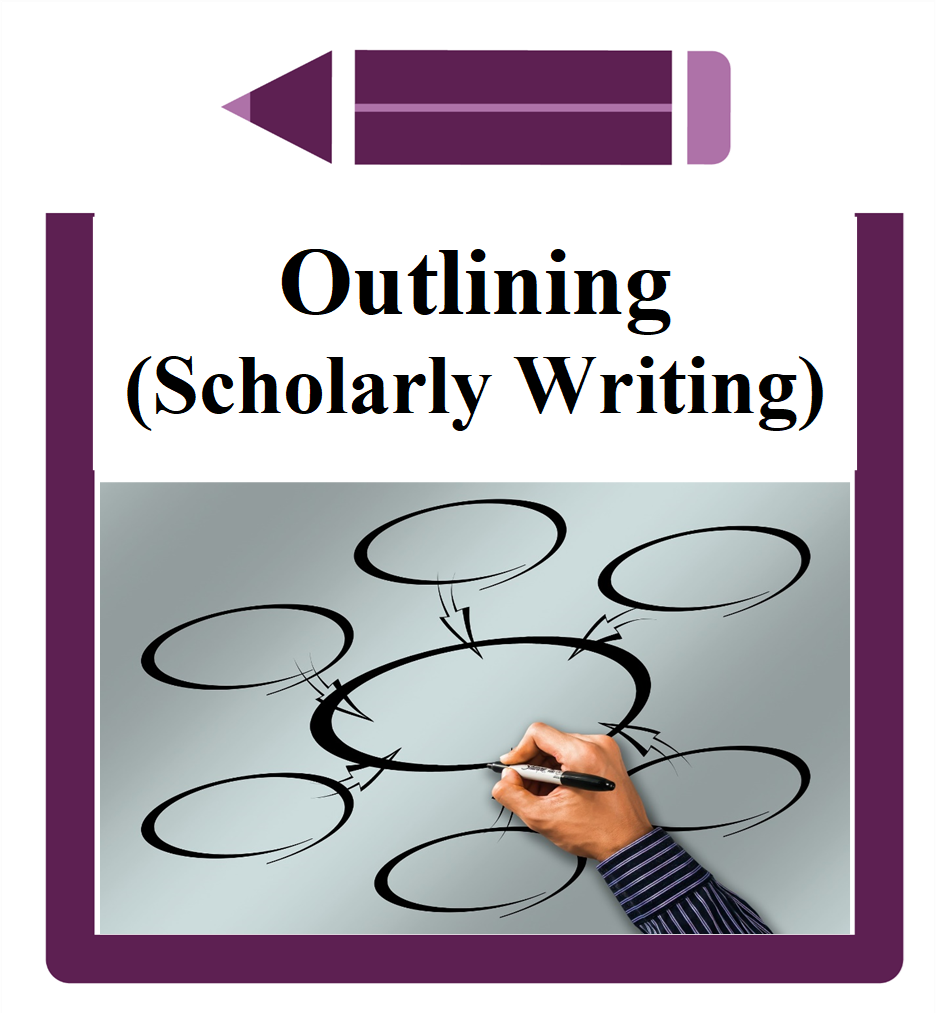 Outlining (Scholarly Writing) Icon Hand drawing a mind map