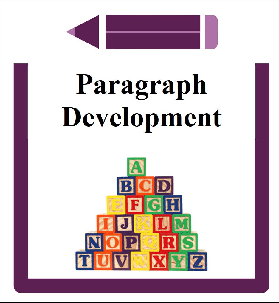 Paragraph Development Icon- pyramid of building blocks