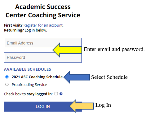 WCOnline Log In page