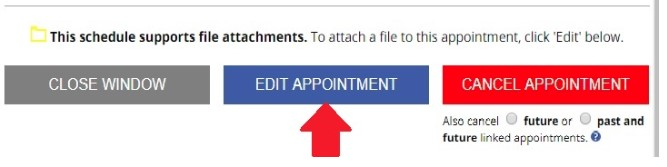 Edit Appointment Button
