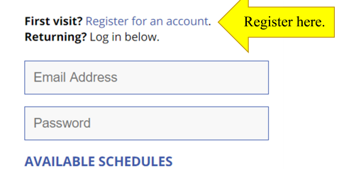 Register For an Account