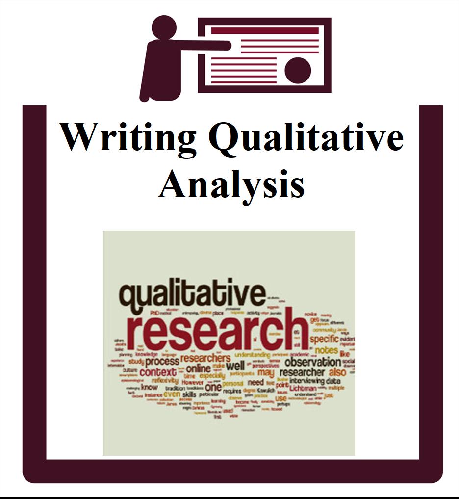 Writing Qualitative Analysis group session icon