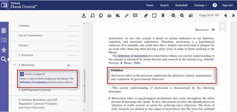 Ebook Central screenshot of book providing a definition.