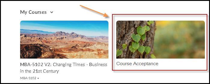 Course acceptance module