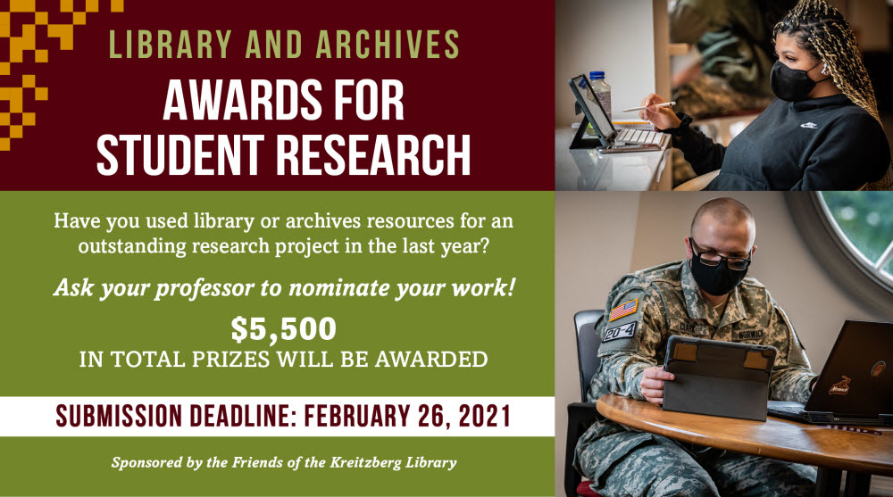 Friends of the Kreitzberg Library Awards for Student Research