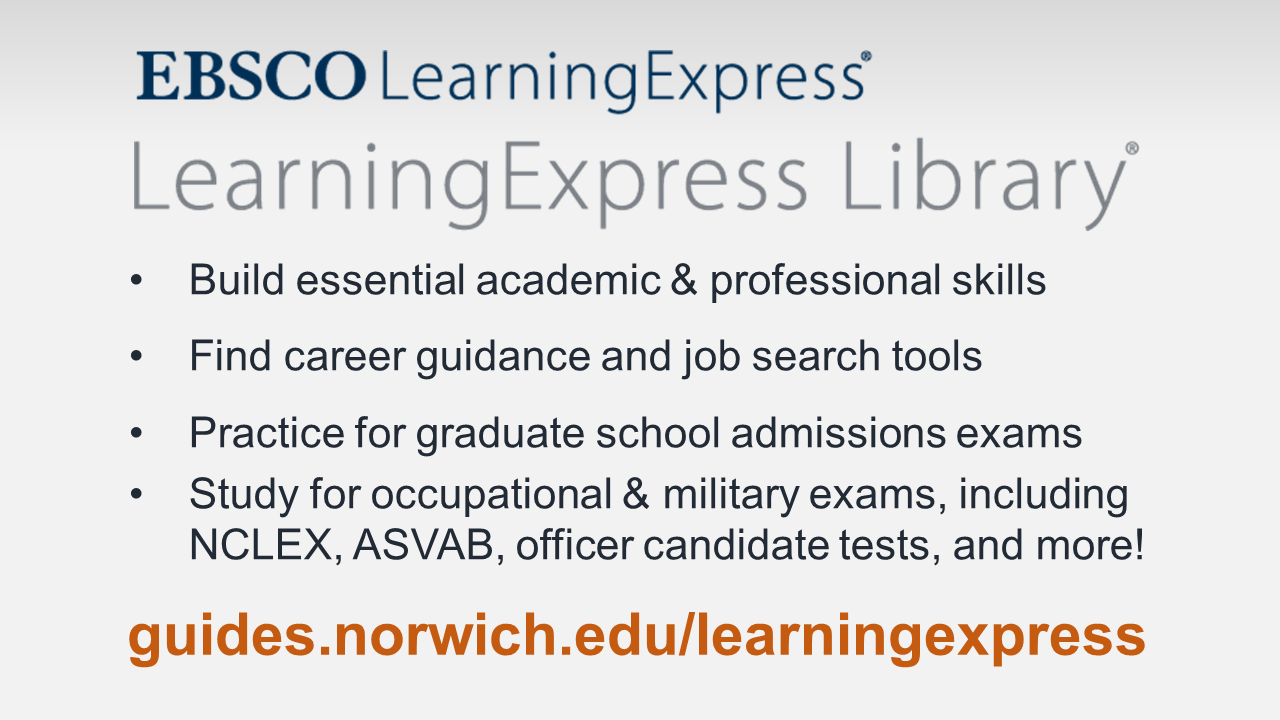 Link to EBSCO LearningExpress Library