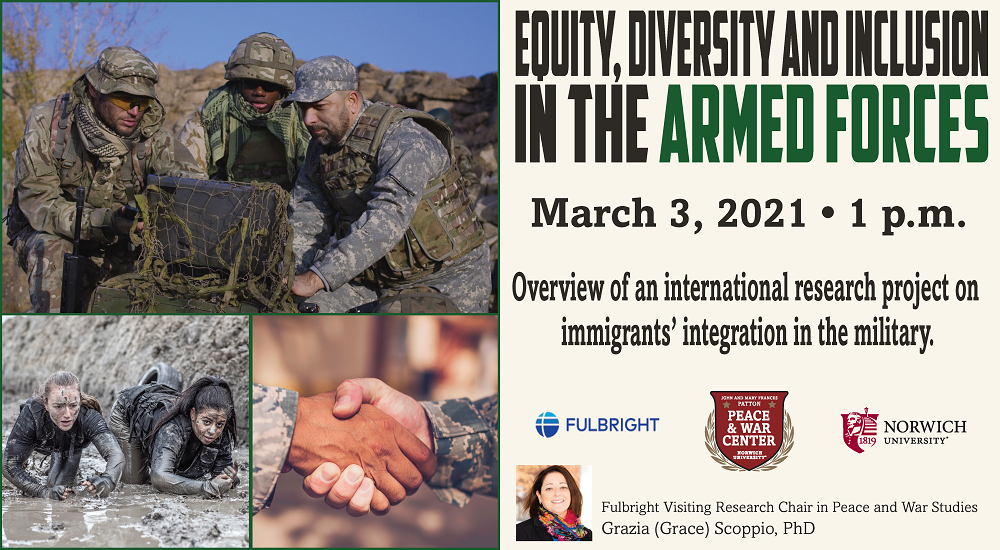 Dr. Grazia Scoppio - Equity, Diversity and Inclusion in the Armed Forces Lecture Webinar Registration