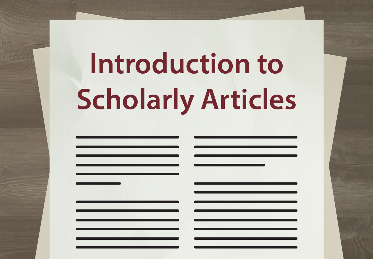 Introduction to scholarly articles