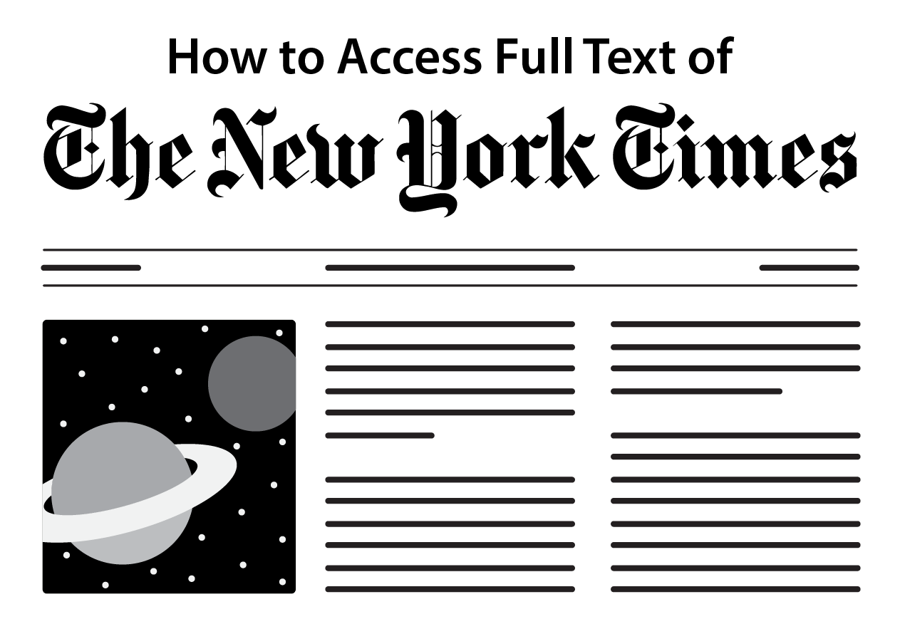 How to Access Full Text of the New York Times