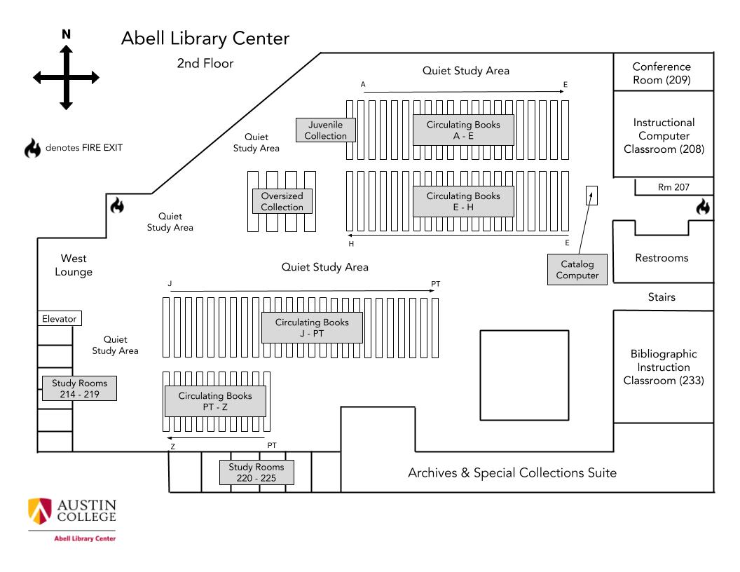 Library 2nd Floor Map