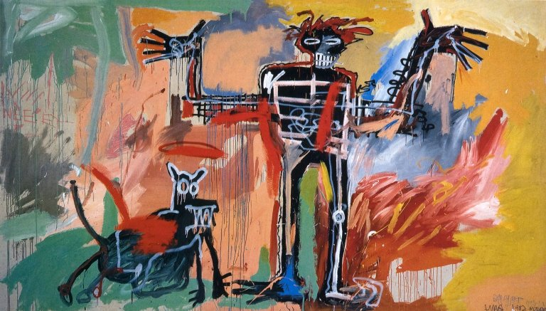 Boy and a Dog in a Johnnypump by Jean-Michel Basquiat