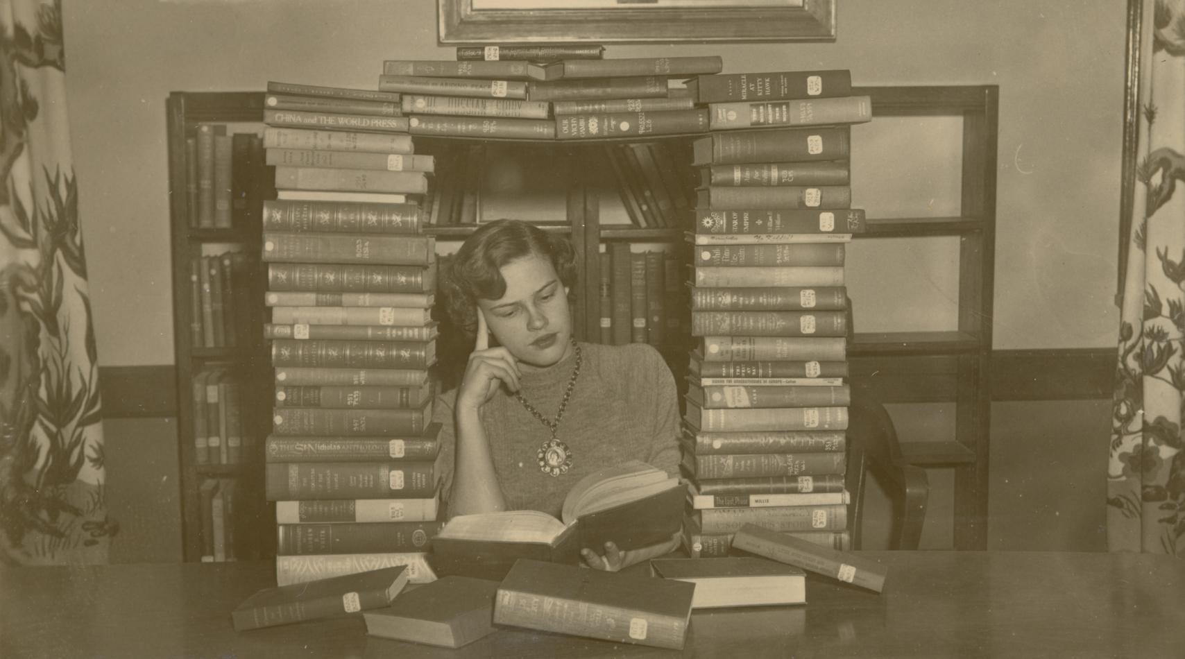 Tower of Books, 1950s