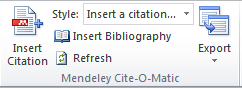 Mendeley insert citation