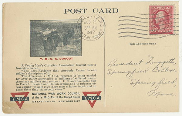 Postcard from Paul L. Harriman to Laurence L. Doggett (December 1, 1917)