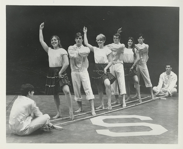 SC Exhibition Dancers performing dance, ca. 1976