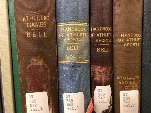 Spines of Physical Education journals