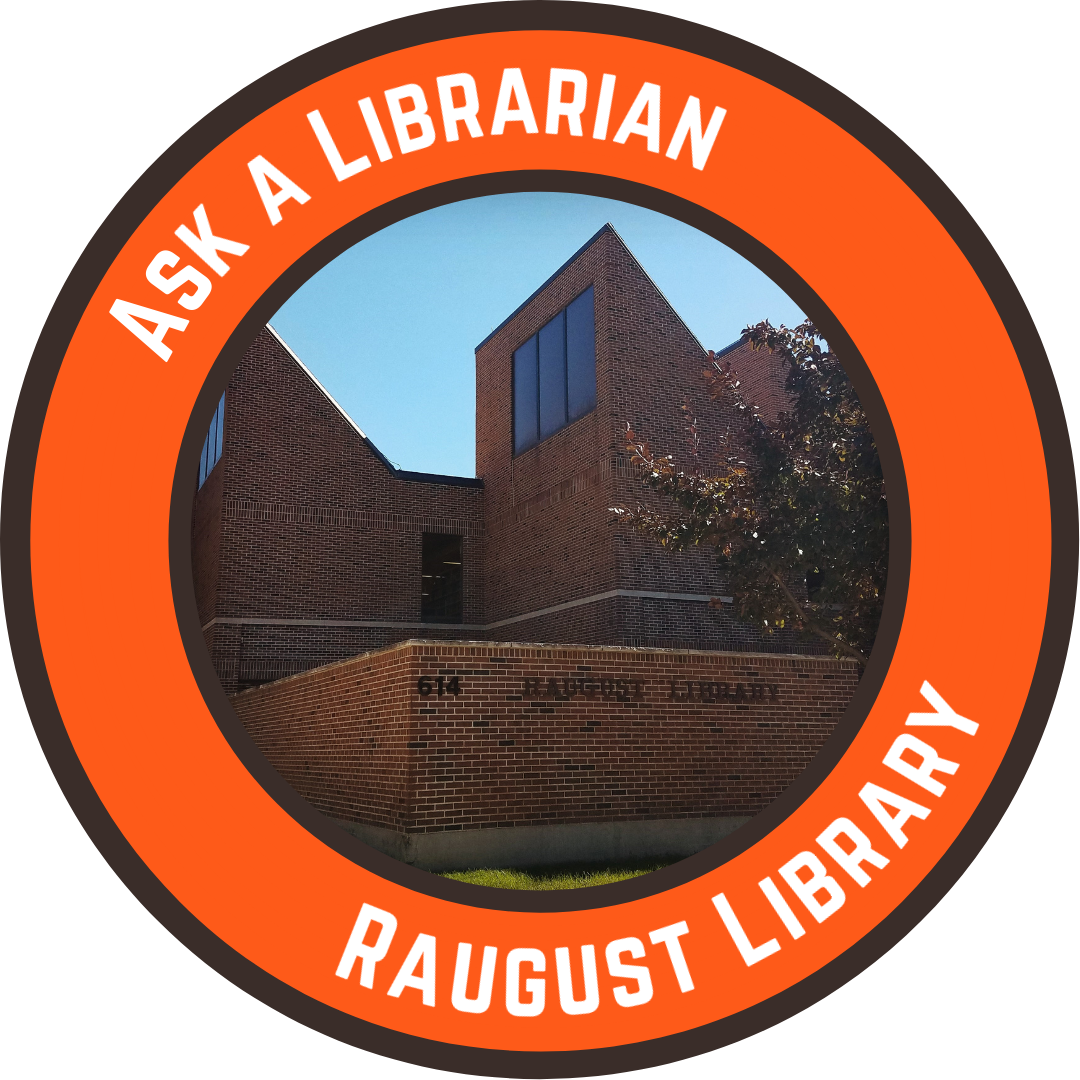 Ask a Librarian at Raugust Library