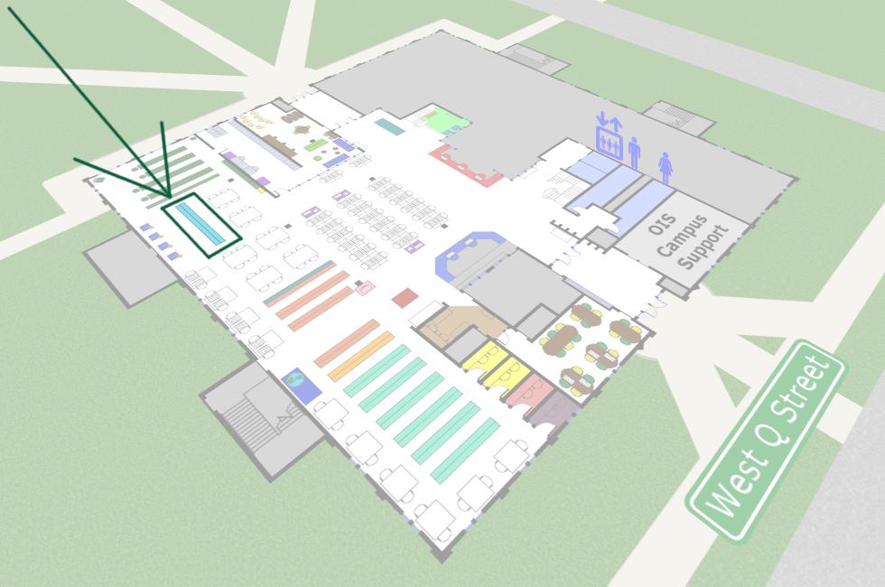 Periodicals 1st floor map
