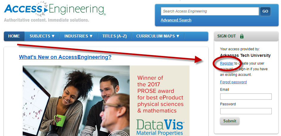Register in AccessEngineering
