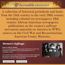The Accessible Archives screenshot from main webpage