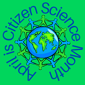 citizen science graphic of earth human shapes holding hands