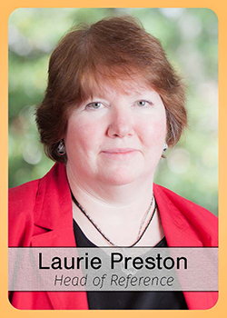 Laurie Preston trading card