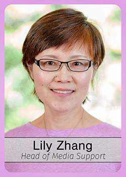 Lily Zhang trading card