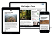 New York Times on various devices