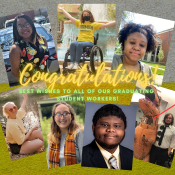 photos of graduating library workers, Congratulations