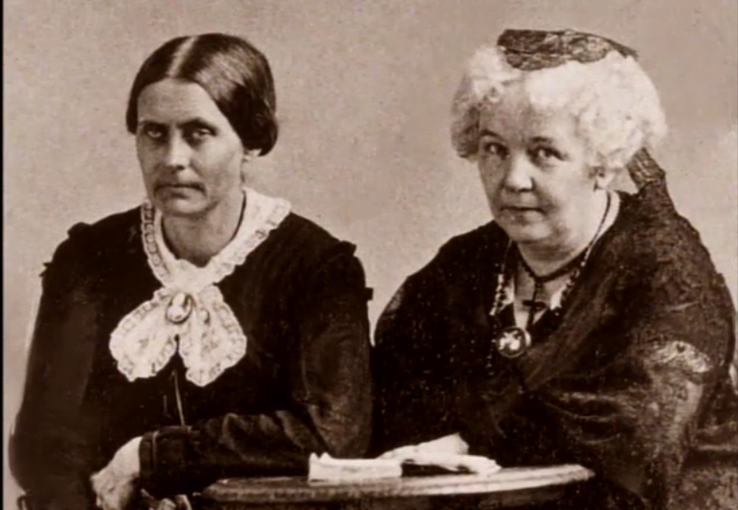 Susan B Anthony and Elizabeth Cady Stanton
