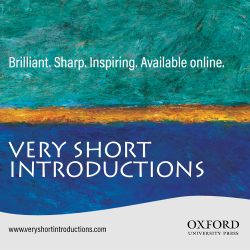 Very Short Introductions graphic from website