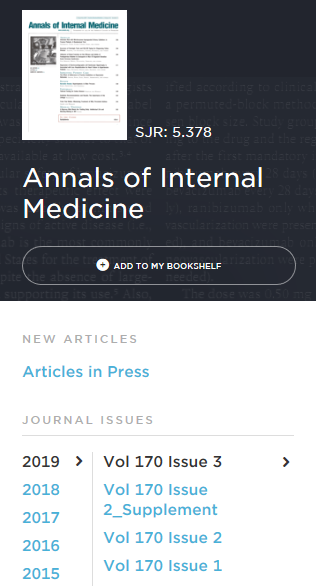 BrowZine Annals of Internal Medicine
