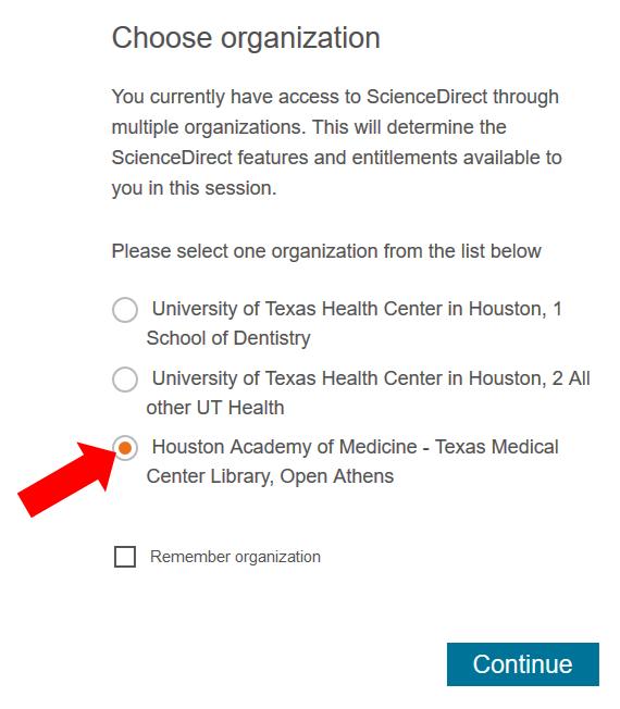 ClinicalKey: UTH Choose Organization