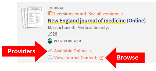 OneSearch NEJM Search result