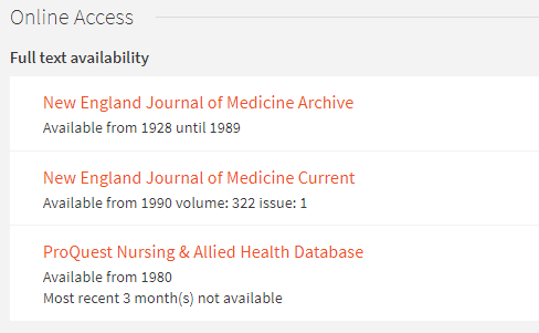 OneSearch: Journal Online Access