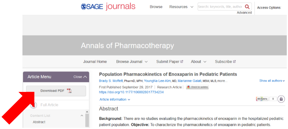 Safe Journals sample article