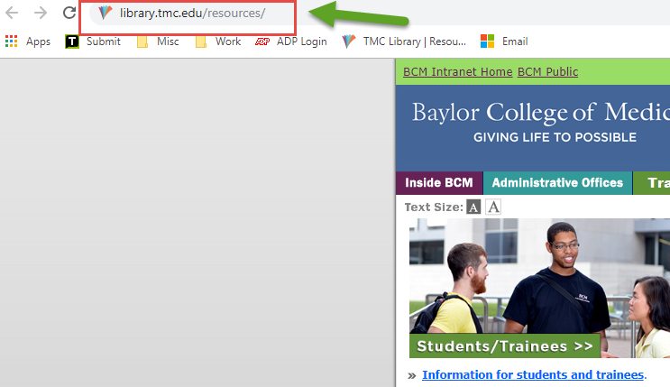 TMC Library URL