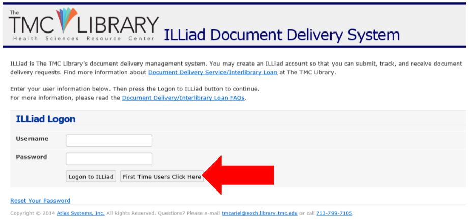 ILLiad: First time users click here