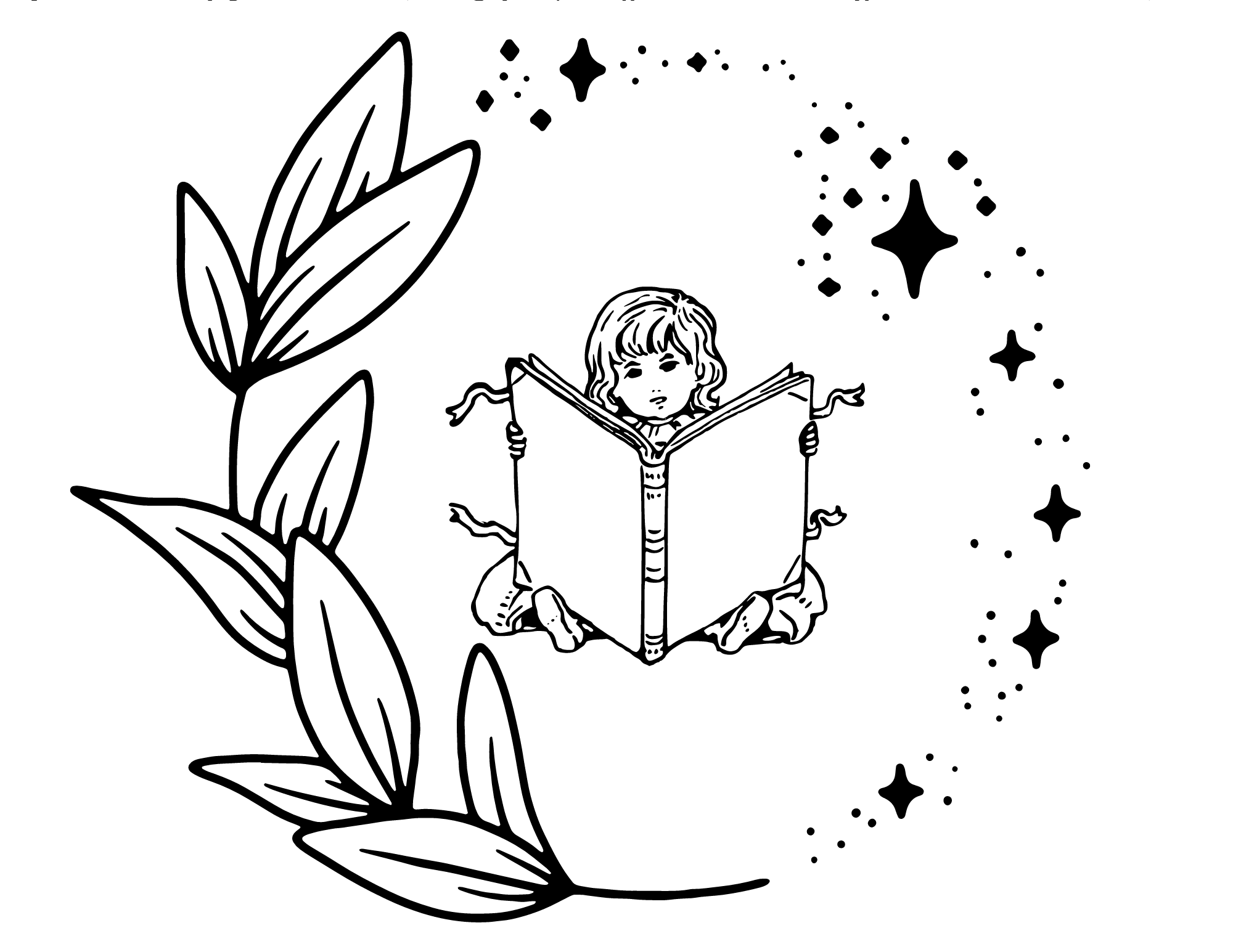 Read Coloring Page