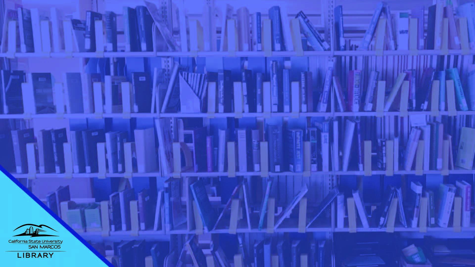 Books on Shelves Zoom Background