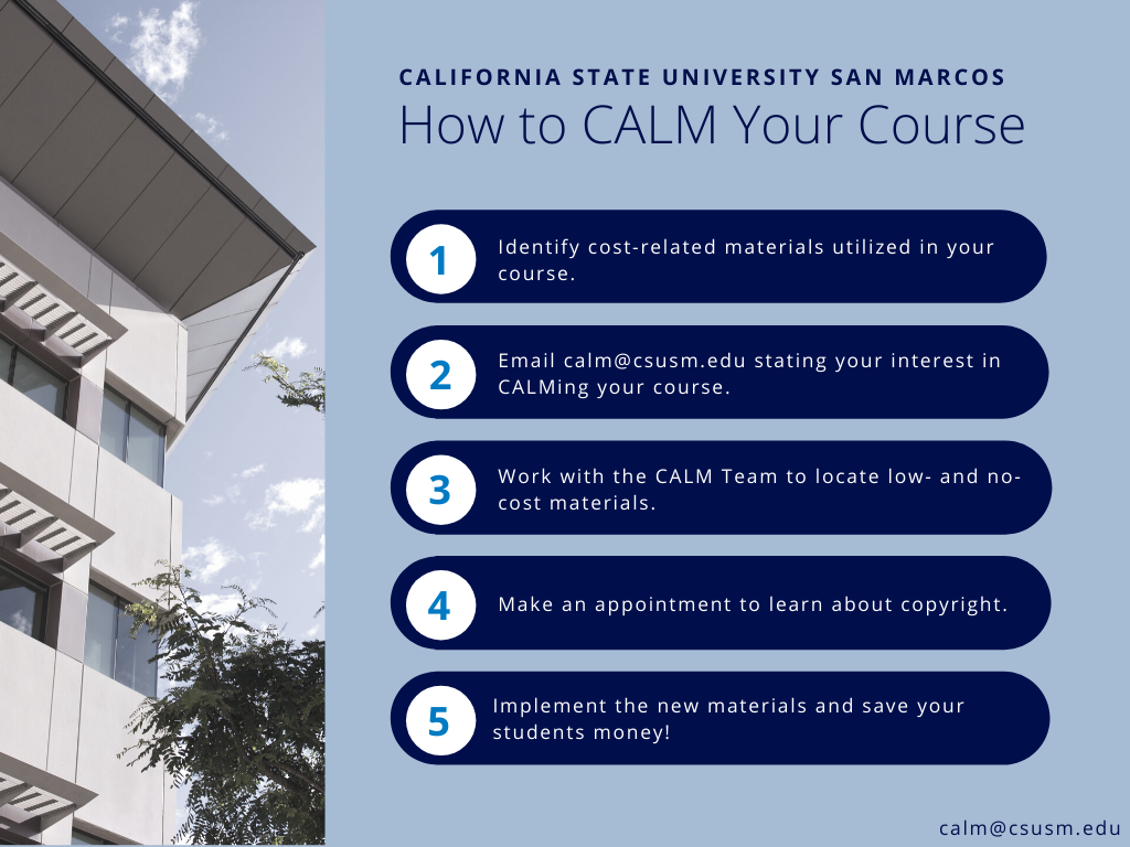 How to CALM Your Course