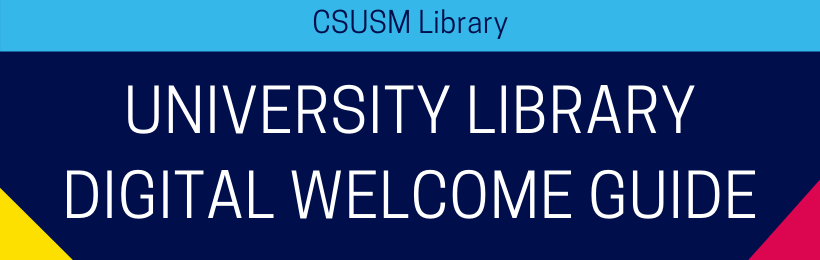 University Library Digital Welcome Guide Header