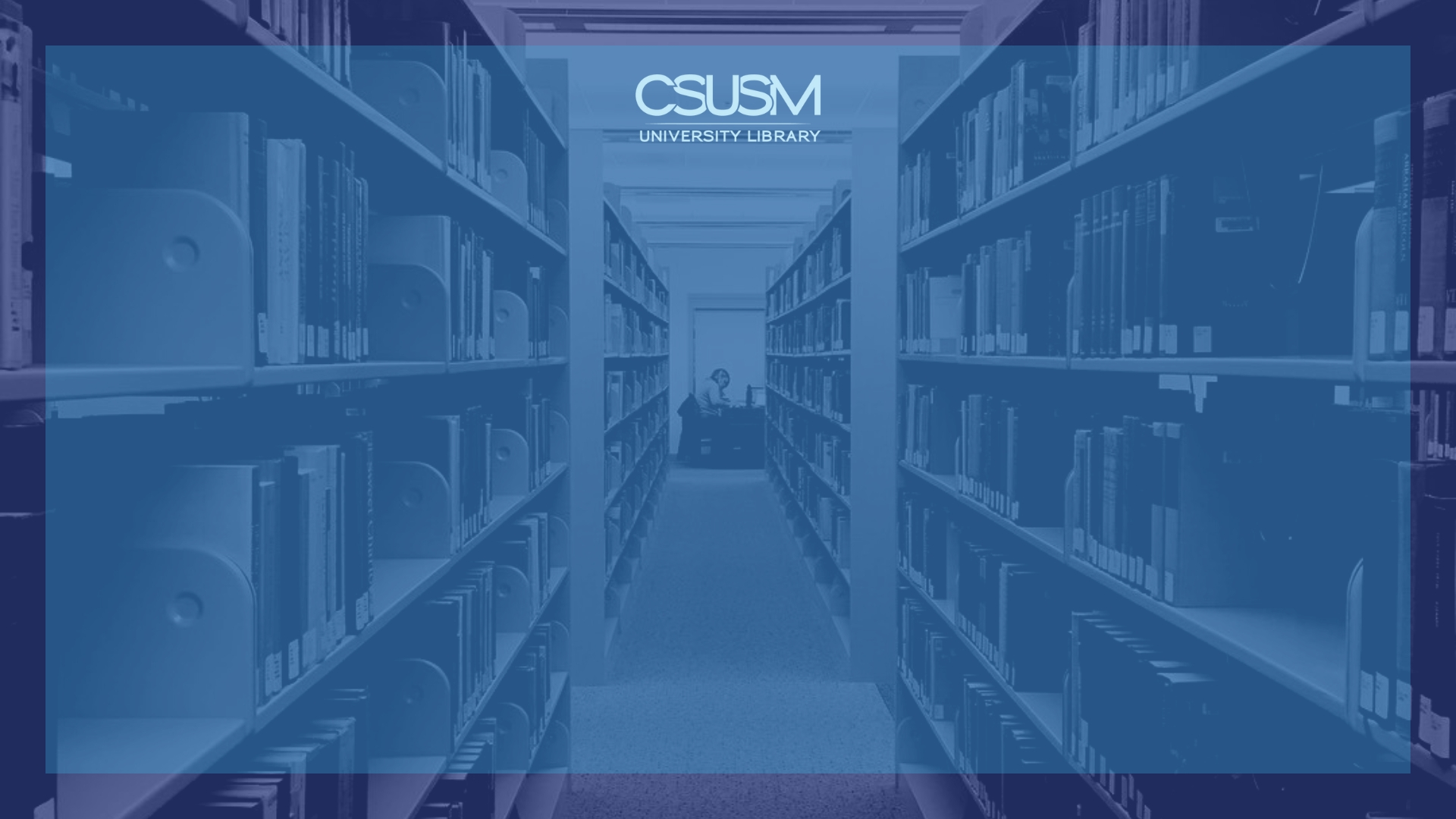 Zoom Background Library Internal Book Stacks Blue