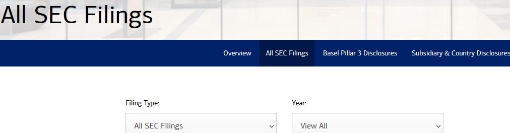 Bank of America Investors SEC filings options
