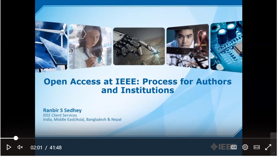 Screenshot of the IEEE Author Workshop