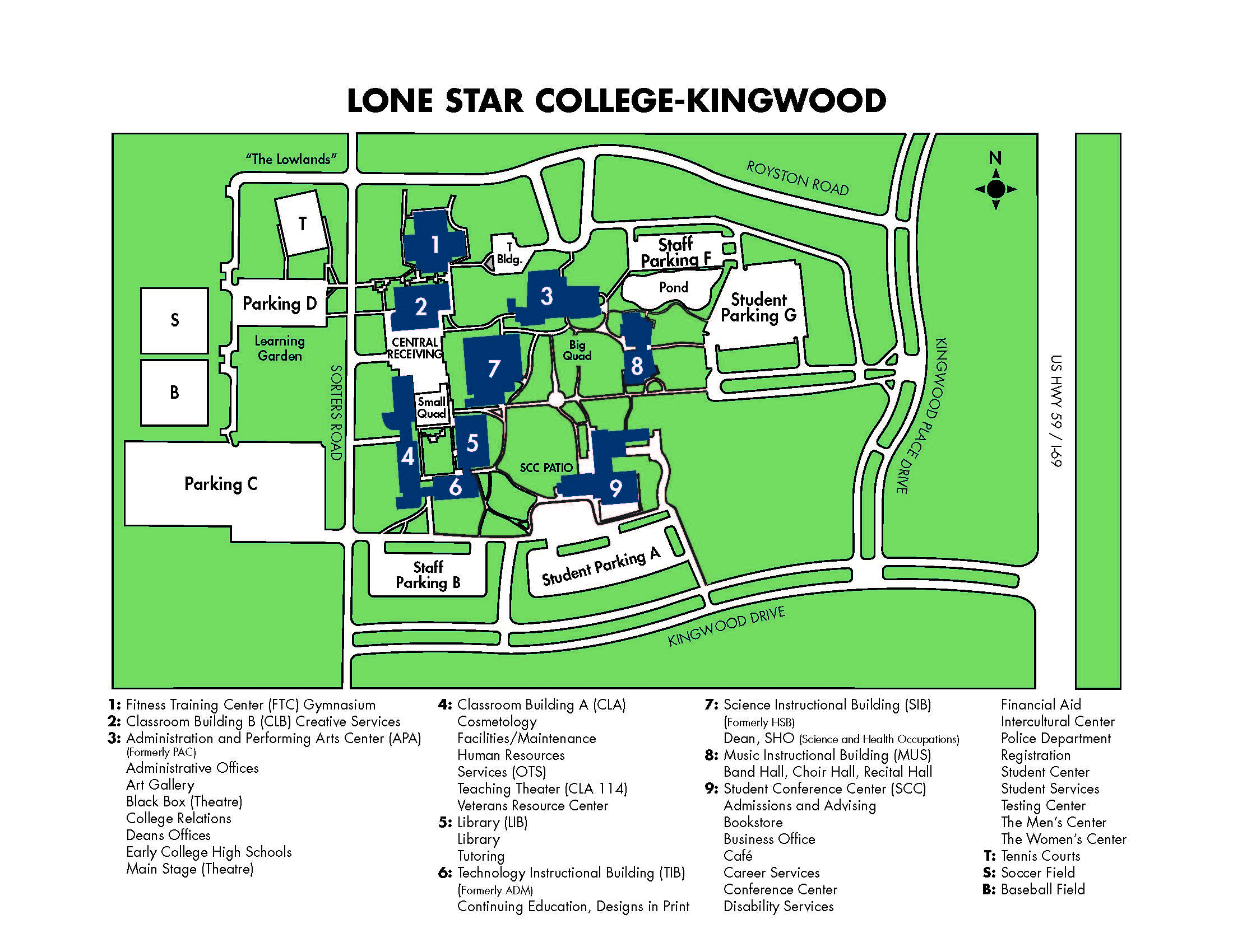 Kingwood Campus Map