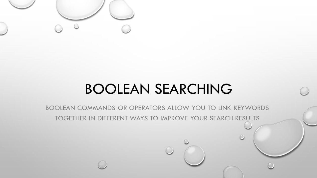 Boolean Searching.